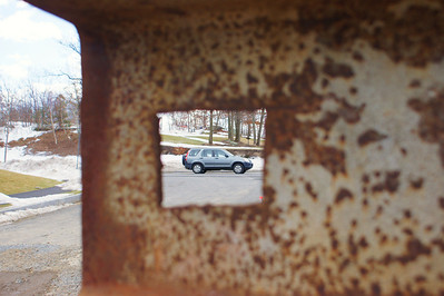 the hole car: A view of my car from under the house