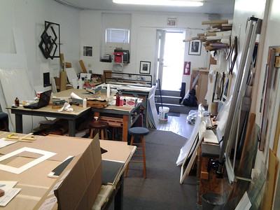 Old space's back room framing production center.
