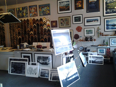 Gallery space pre-move.  Everything must go!  Next door!
