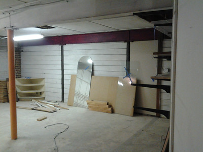 New space's basement.