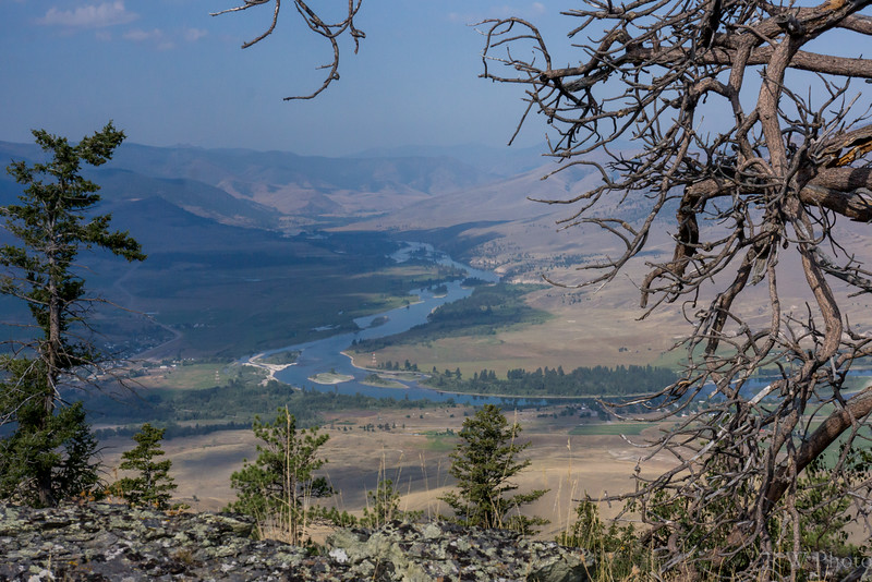 Wild Horse Mesa looking west over the Flathead River