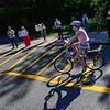 KRISTOPHER RADDER — BRATTLEBORO REFORMER<br /> Bibi Johnson, a graduating sixth-grader from Academy School, in Brattleboro, Vt., rides her bike as teachers cheer for her during a graduation ceremony on Friday, June 12, 2020.