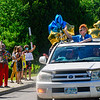 KRISTOPHER RADDER — BRATTLEBORO REFORMER<br /> Corey Caples, a graduating sixth-grader from Academy School, in Brattleboro, Vt., pops out of the sunroof to wave to his teachers as they cheer for him during a graduation ceremony on Friday, June 12, 2020.