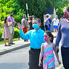 KRISTOPHER RADDER — BRATTLEBORO REFORMER<br /> Graduating sixth-graders from Academy School, in Brattleboro, Vt., pass their teachers as they cheer during a graduation ceremony on Friday, June 12, 2020.