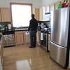 kitchen.. stainless steel... wood floors