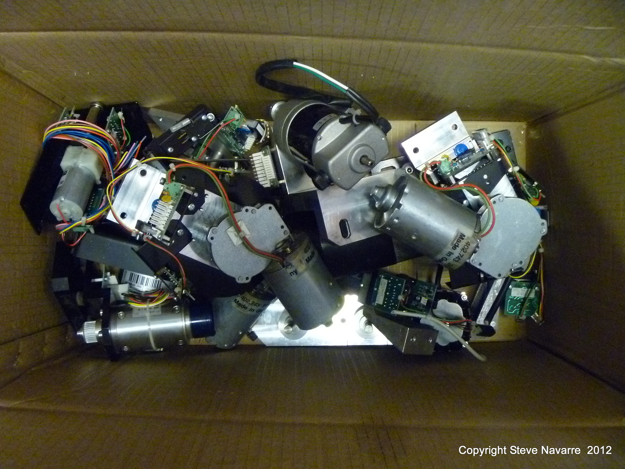All the various motors.