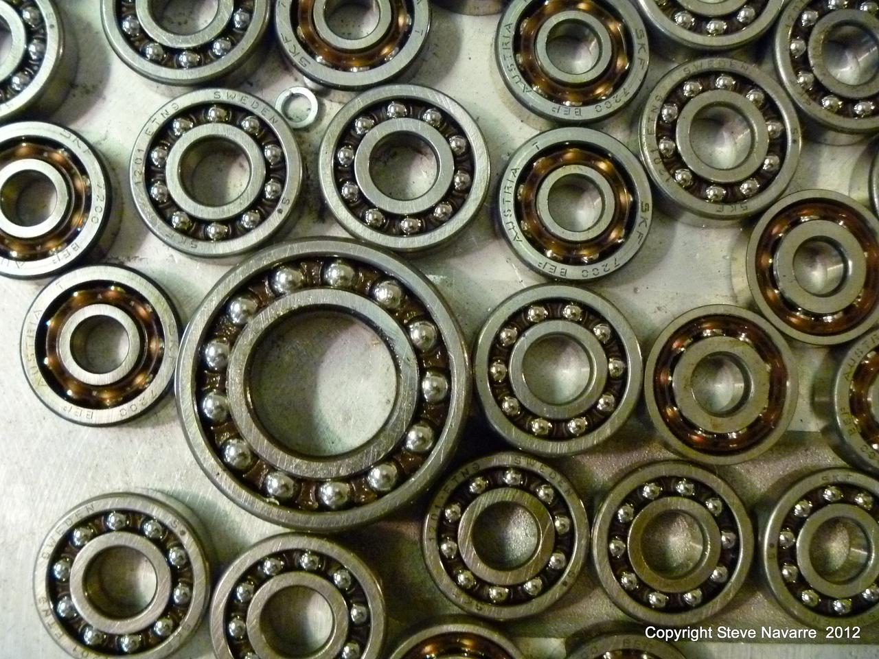 Various bearings.