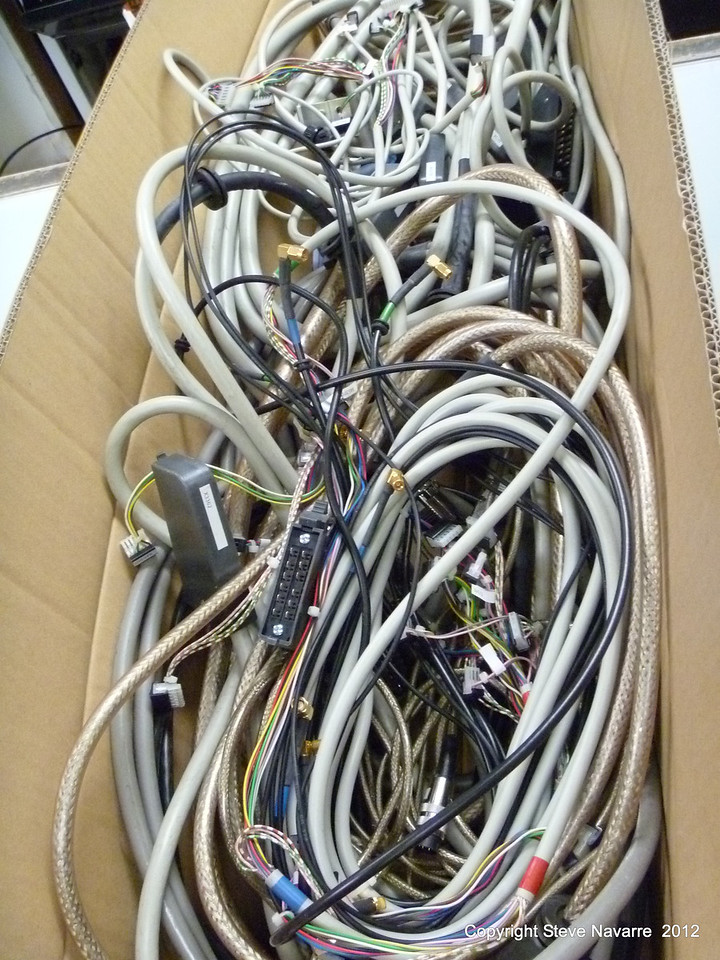 All the wiring that was saved for spare parts.
