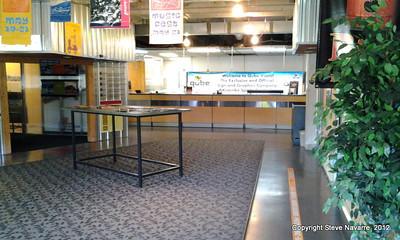 Upstairs customer service area.
