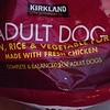 DOG FOOD:  Kirkland Adult fresh Chicken, Rice & Veggie – 40 lb bag that 85% full ($15