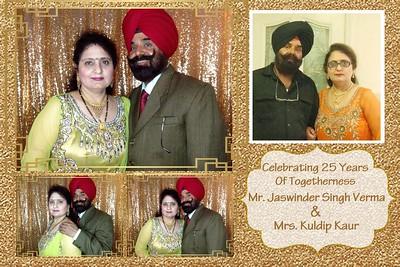 Mr. Jaswinder Singh Verma & Mrs. Kuldip Kaur 25th Anniversary
