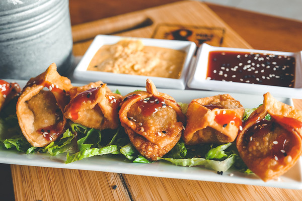 Fried Dumplings with Short Rib and Cream Cheese