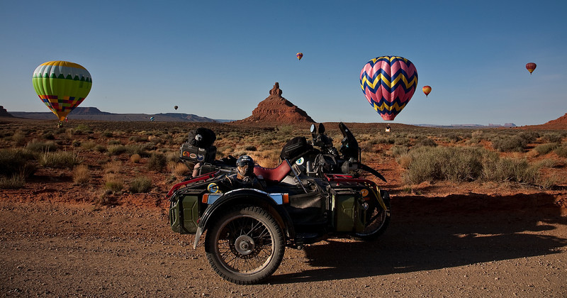 The Balloons in Valley of the Gods, Utah.
