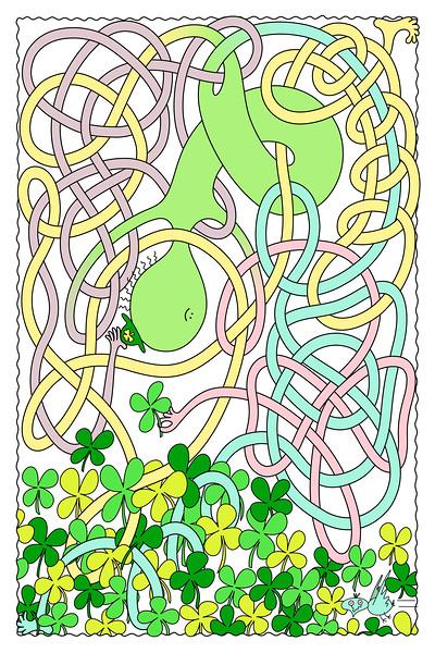 Mr Squiggly Four-Leaf Clover