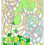 Mr Squiggly Four-Leaf Clover