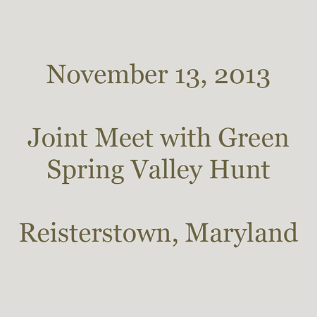 0055 - 2013-11-13 - Joint Meet with Green Spring Valley, Reisterstown, MD