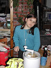 Clara Lauterwasser making ice cream<br /> Farnsworths, Vermont, 2003-02-22