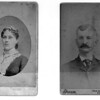 Rose Mattis (Matthis?) Kirschner 1859-1932 and <br /> Nicholas Kirschner Jr. (1861-1931)<br /> No date on photo. Scanned at 600 dpi 2010-02-08, contrast enhanhced.