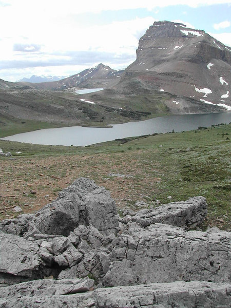 Ptarmigan Lake from approach to Packers Pass
