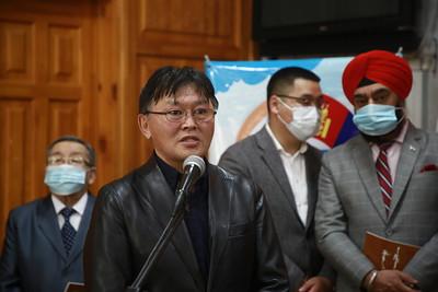 """2021 оны гуравдугаар сарын 2. """"Их эзэн Чингис хааны өвөөр тэтгэгдсэн Монгол-Энэтхэгийн соёлын хэлхээ холбоо"""" гэрэл зургийн үзэсгэлэн нээлтээ хийлээ.  ГЭРЭЛ ЗУРГИЙГ Д.ЗАНДАНБТ/MPA"""