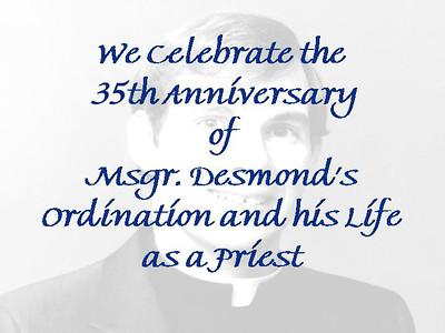 Msgr. Desmond's 35th Ordination Anniversary