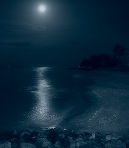 Moonlit Beach at Teluk Bungah