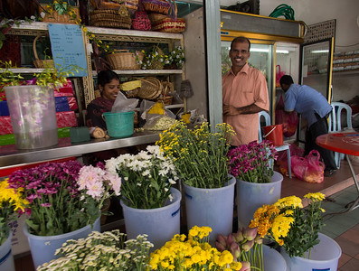 Indian florist at Jln Gasing