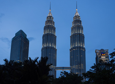 7:17 at the Petronas Twin Towers