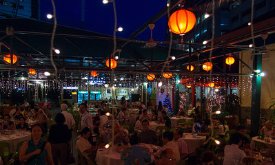 Busy restaurants, nightlife