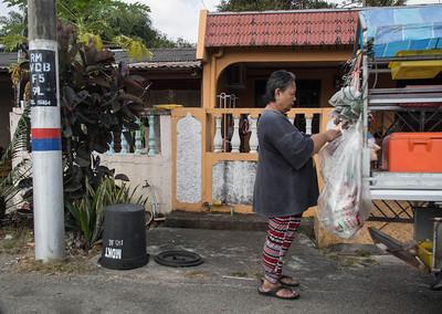 Street vendor at Kota Tinggi