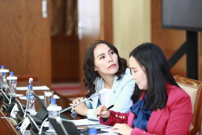"""2020 оны есдүгээр сарын 23. УИХ-ын гишүүн Ц.Мөнхцэцэг, Ч.Ундрам нар """"Үндэсний боловсролын тогтолцоог сайжруулах нь: ЕБС дахь англи хэлний сургалт"""" хэлэлцүүлэг зохион байгууллаа.  ГЭРЭЛ ЗУРГИЙГ Д.ЗАНДАНБАТ/MPA"""