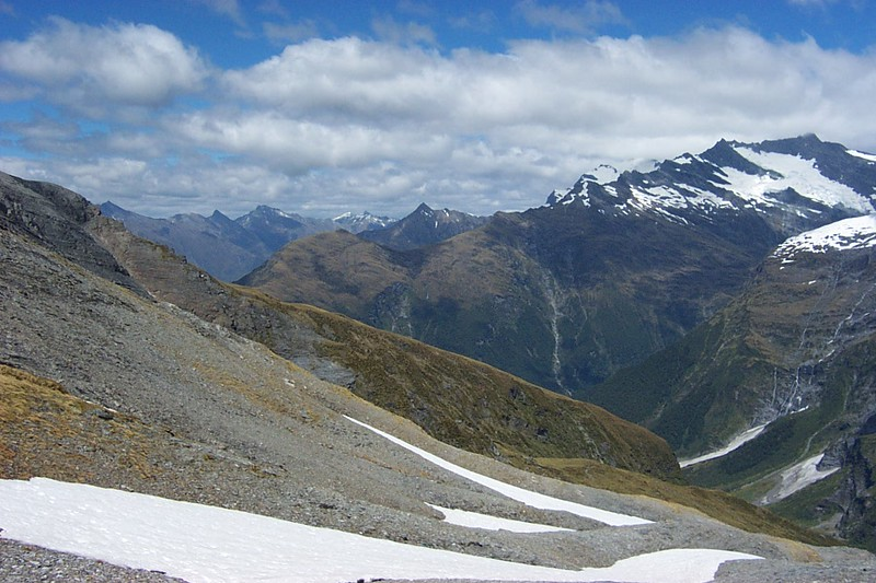 2003-02 (East Matukituki circuit of Aspiring Flat, Rainbow Stream, Sisyphus Peak, Ruth Flat & Bledisloe Gorge )
