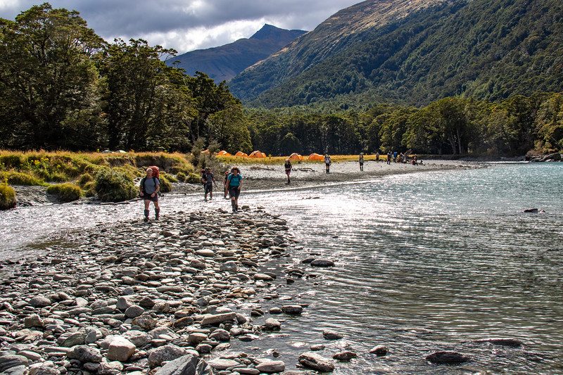 School camp in the East Matukituki Valley