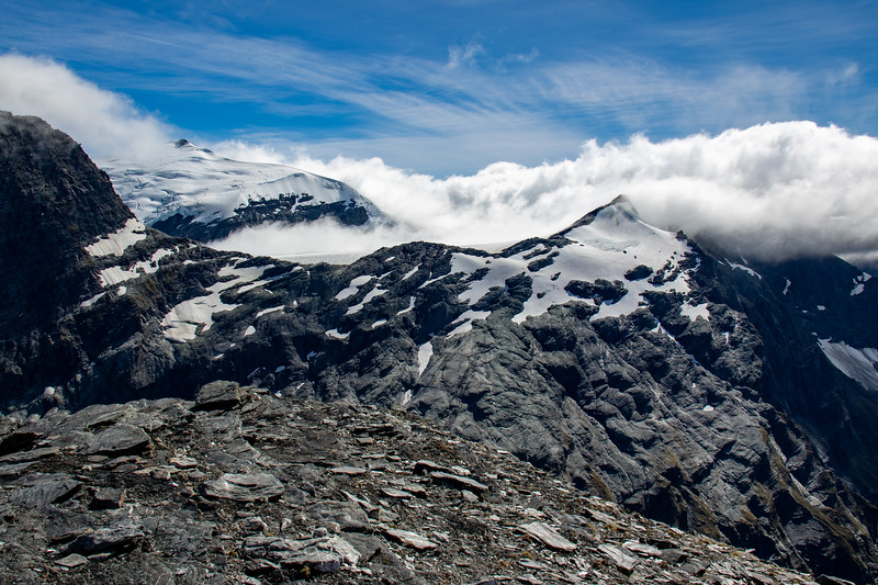 Upper Volta Glacier and Glacier Dome from Sisyphus Peak