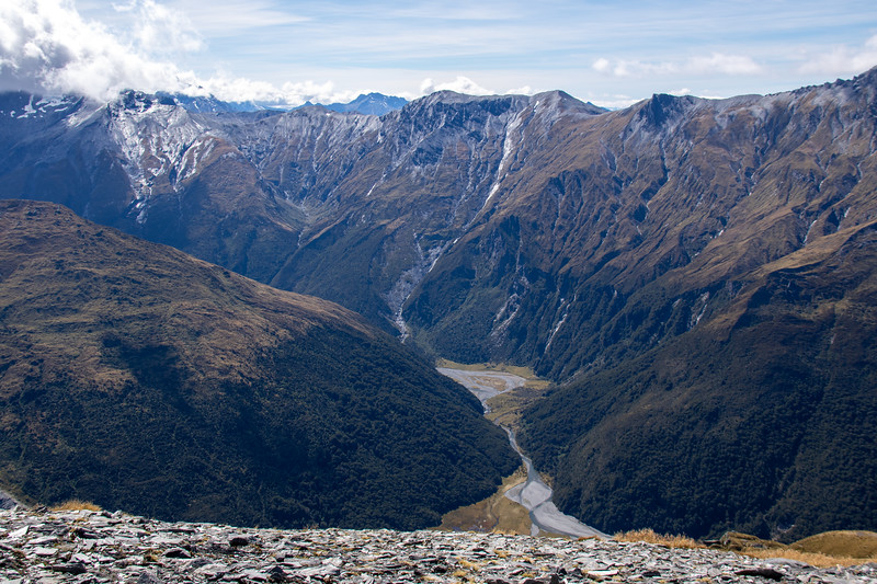 Upper East Matukituki from Sisyphus Peak