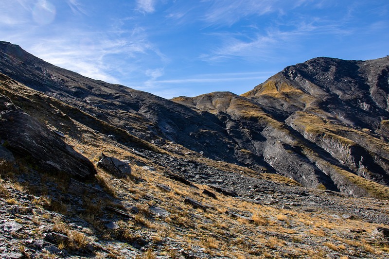 Wimot Saddle, with Sisyphus Peak on right