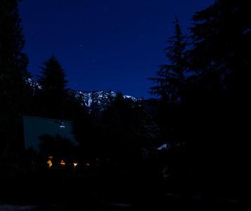 Night shots around Colin's cabin, Dec. 2011