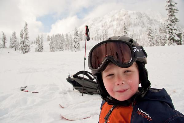 Lillie and Cade ski Mt. Baker, Dec. 2008