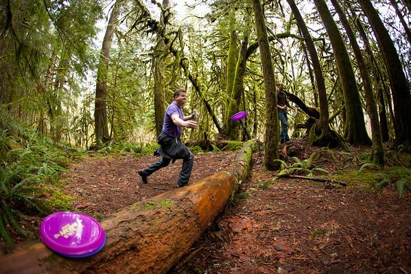 Swift Creek touring and disc frisbee golf, Mt. Baker, Jan. 2012