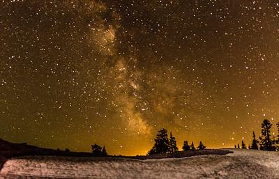Milky Way over Mt Baker.