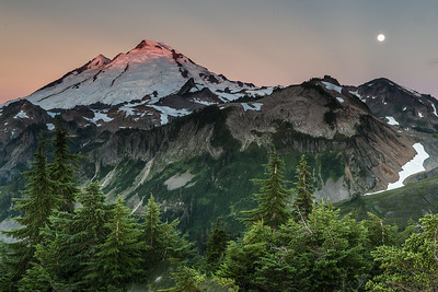 Mt. Baker at sunrise with Alpine Glow.
