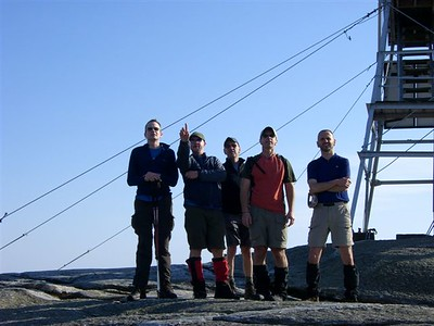 ...most of us high-tailed it to the Cardigan summit for views into Vermont and the Franconia Ridgeline.