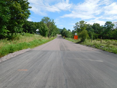 Savage Road has been chipped, not much loose stone.