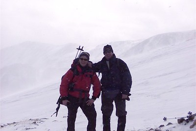 Mike and Rob at 13,500 ft