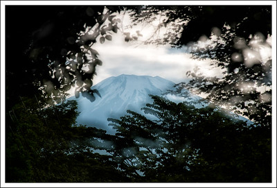 A double exposure, taken from the road in front of the lodge.