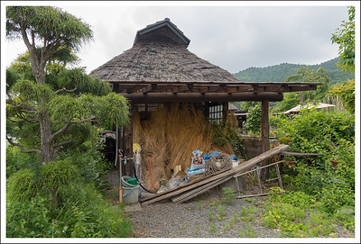 This shed was a storage place for numerous things including fertilizer and new roof thatching.