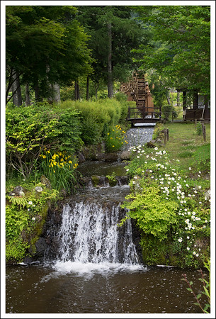 Water wheels at the flower park