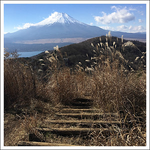 Hiraoh Mountain.  Taken with my iPhone before it took the V1 out of my backpack.