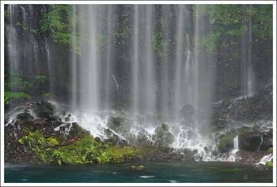 A close up of Shiraito waterfall