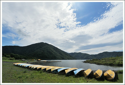 This is the back side of lake Mototsuko